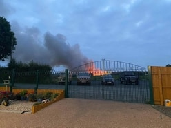 On standby: Telford family close to huge fire warned of potential evacuation
