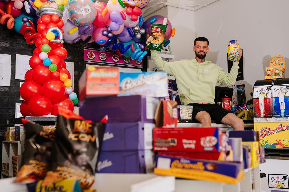 Andrew Lane at his new shop, Sugar Plug