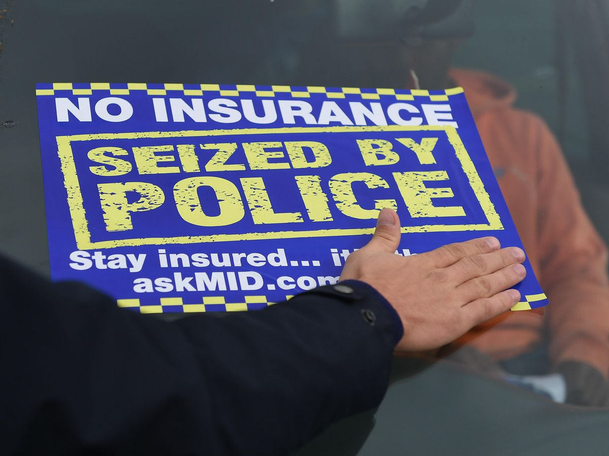 A police campaign to cut the number of uninsured drivers on UK roads has been launched (Joe Giddens/PA)