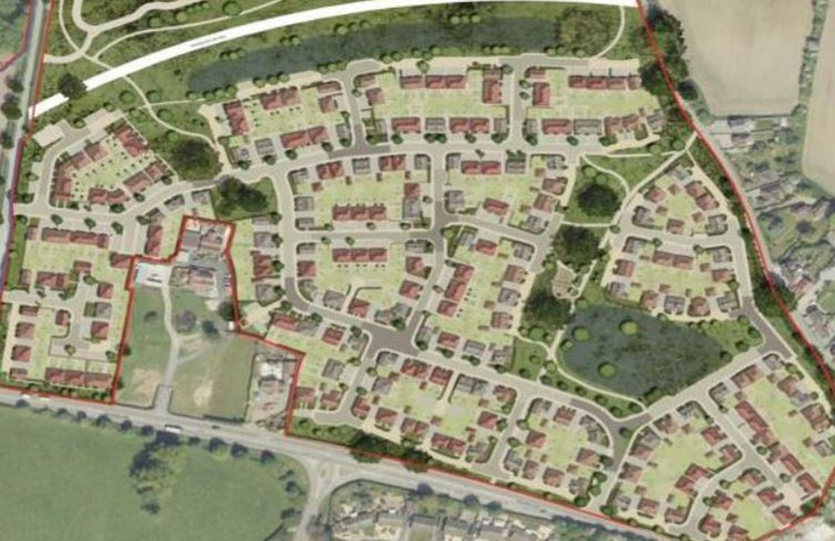 Plans for the development at Churncote