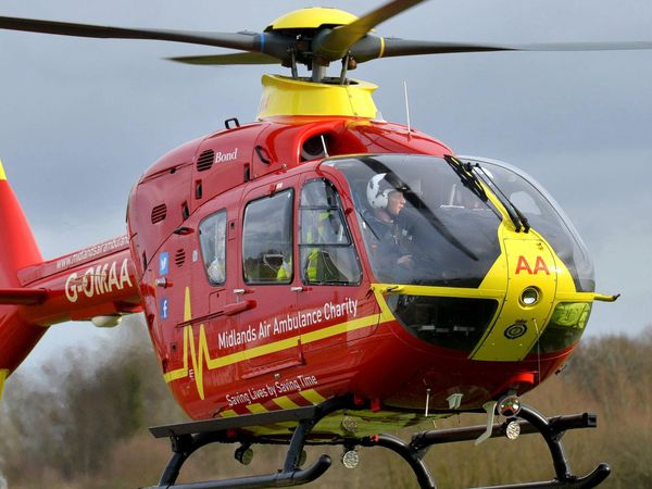 Patient airlifted to hospital after motorbike and car crash in north Shropshire