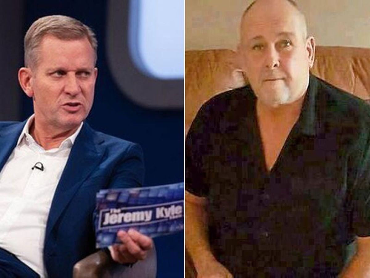 Jeremy Kyle, left, and Steve Dymond, who used to live in Shropshire