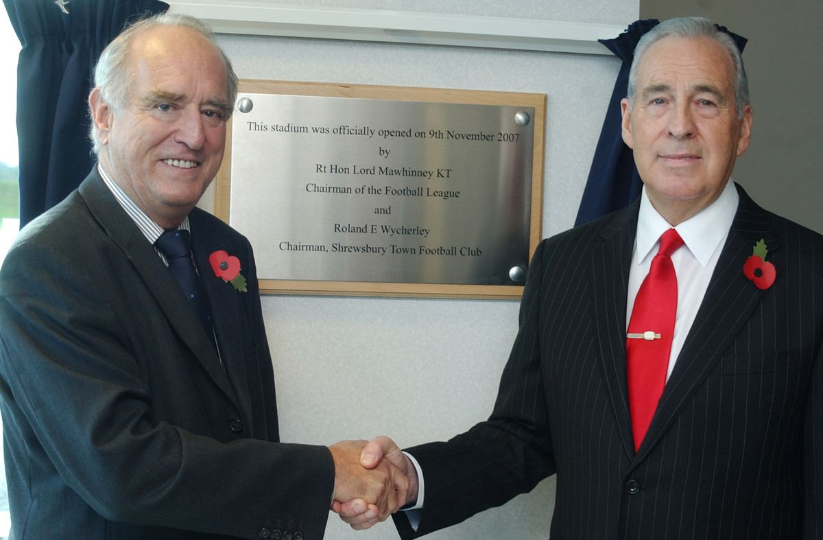 Official opening of Shrewsbury Town FC's new stadium.
