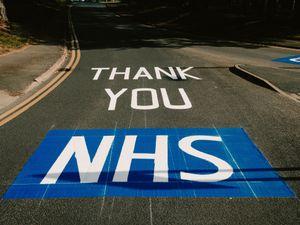 "Telford & Wrekin Council has installed ""Thank You NHS"" road signs at the entrance to The Princess Royal Hospital in Telford"