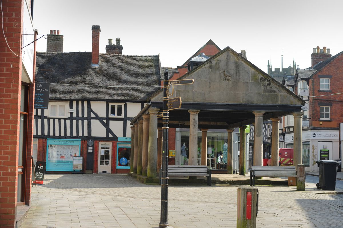 The Buttercross on Cheshire Street. Shoppers can find deals all over the town at this weekend's walking market