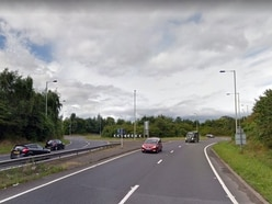 Shrewsbury A5 roundabout in the dark because of lighting fault