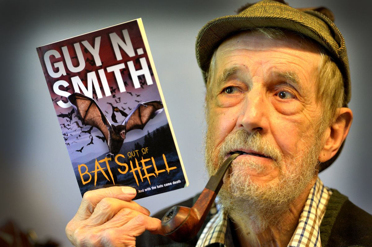 Guy N Smith with his pandemic-based novel pictured last year