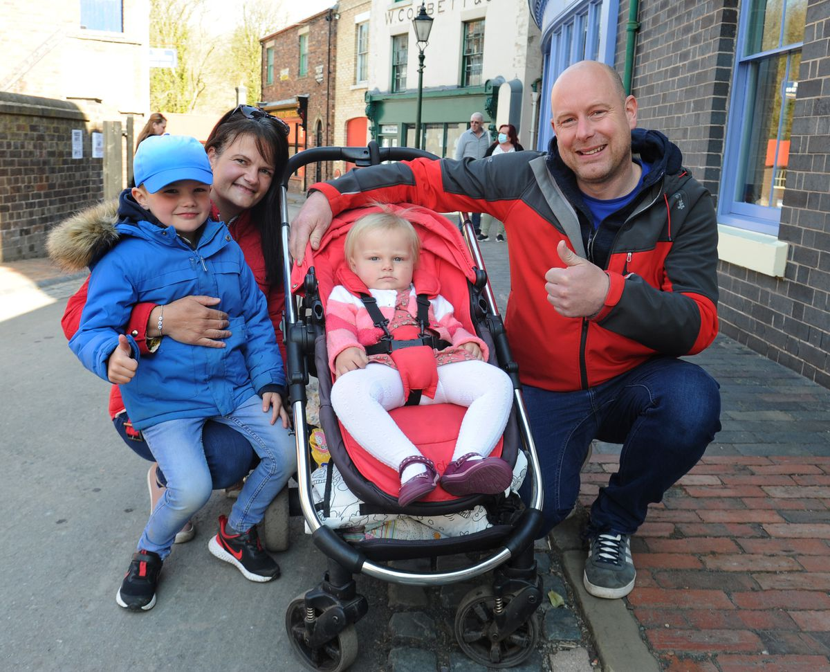 Nicky and Nathan Shore, with their children Thomas, aged 5, and Pippa, aged 1