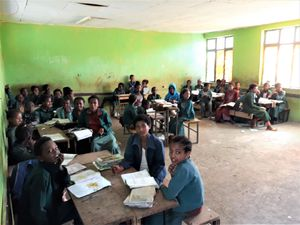 Lalibela Primary School pupils