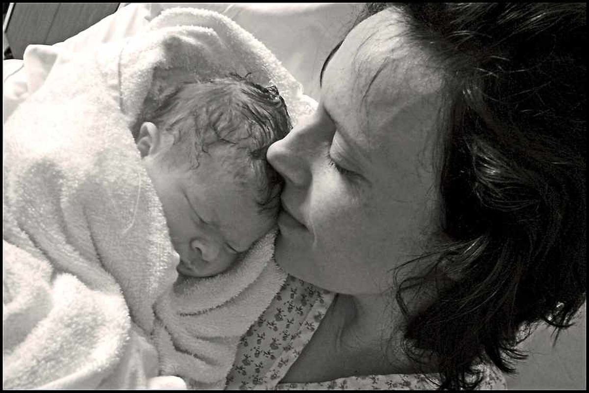 Rhiannon Davies, of Ludlow, with daughter Kate