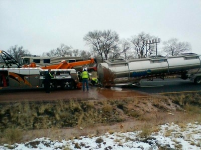 Chocolate spill creates sweet mess on Arizona highway