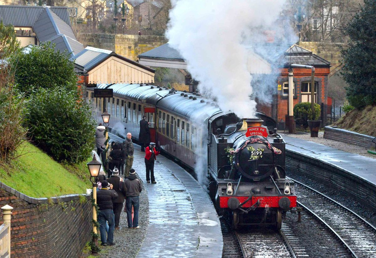 After months without trains the Llangollen Railway reopens on Saturday, although steam trains, as seen here, will not yet be running on the tracks.