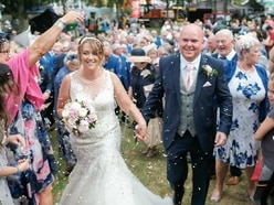 Pair become first couple to wed at Royal Welsh Show