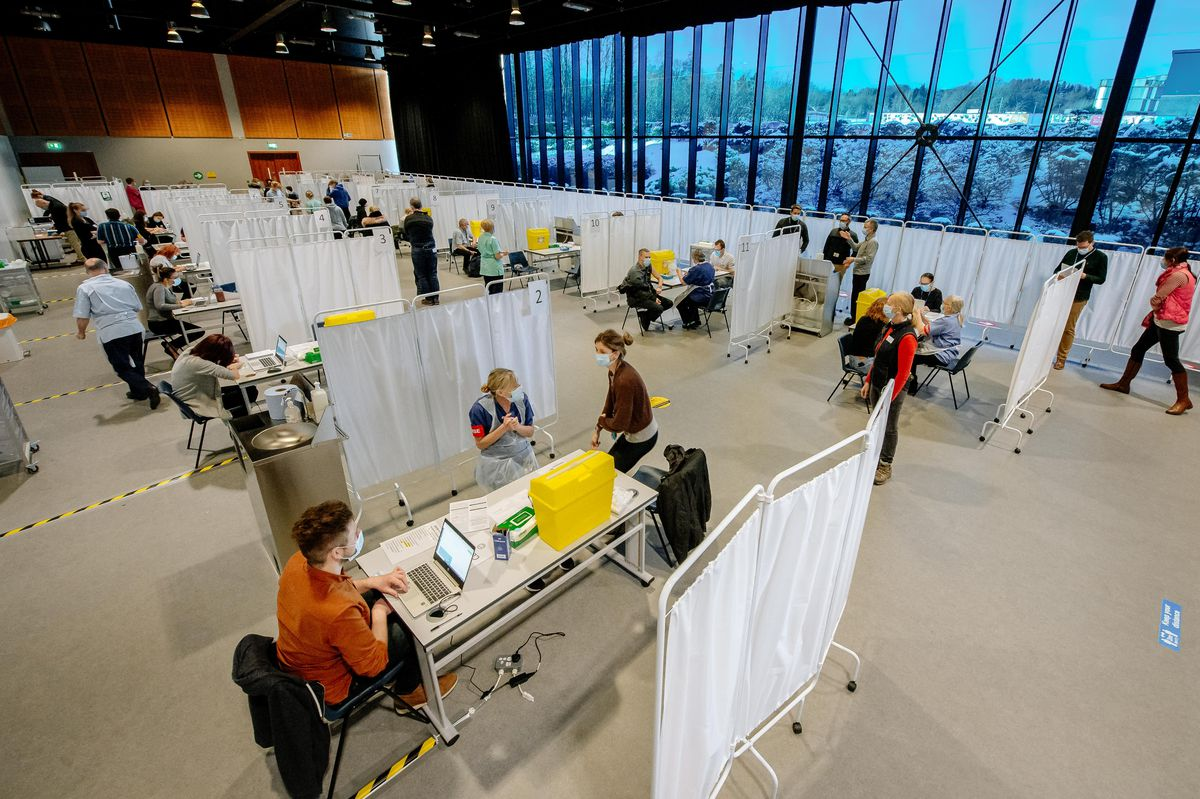 Telford International Centre is one of the mass vaccination sites in the county