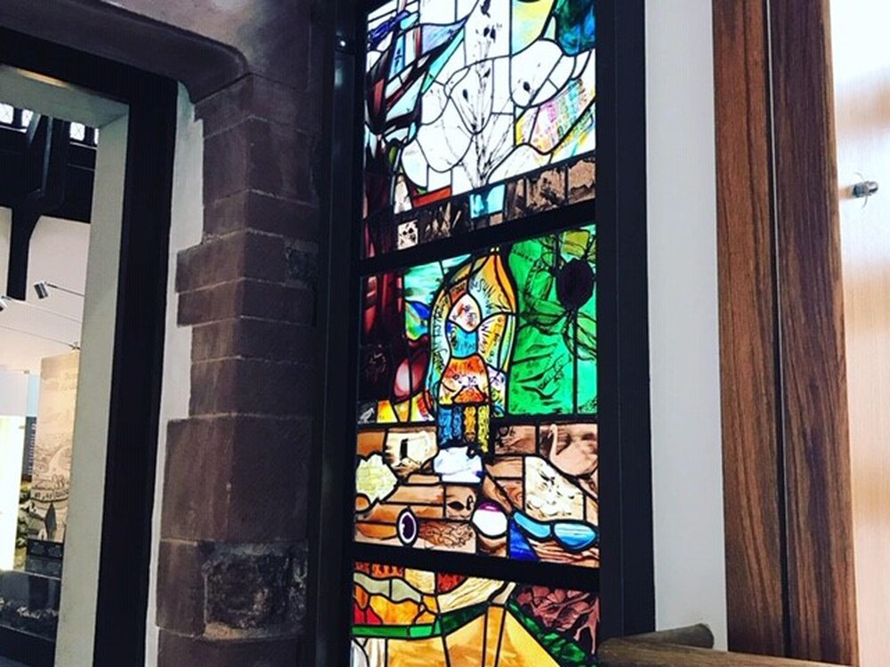 New stained-glass window for Shrewsbury museum
