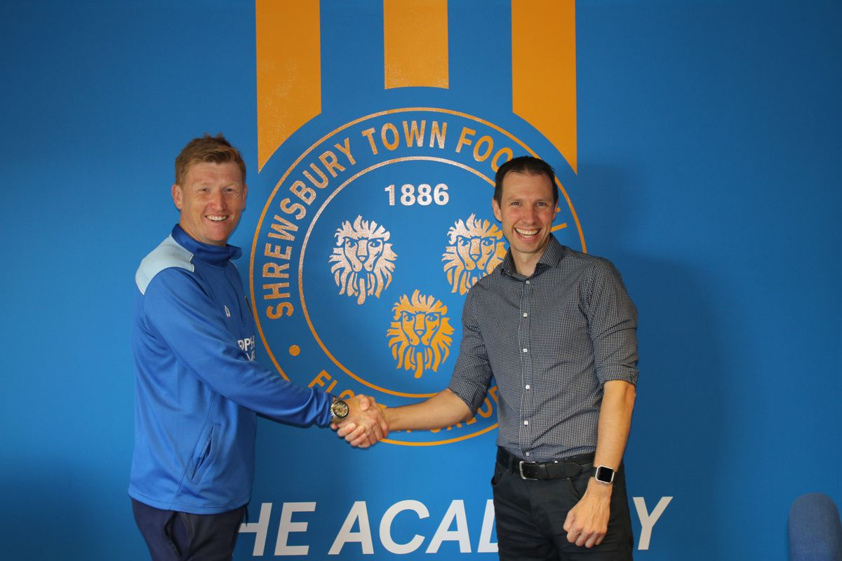 Academy boss David Longwell with Sports Village manager Rhys Collins