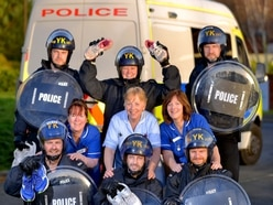 Cops to take on Market Drayton 10K in riot gear to raise money for Severn Hospice