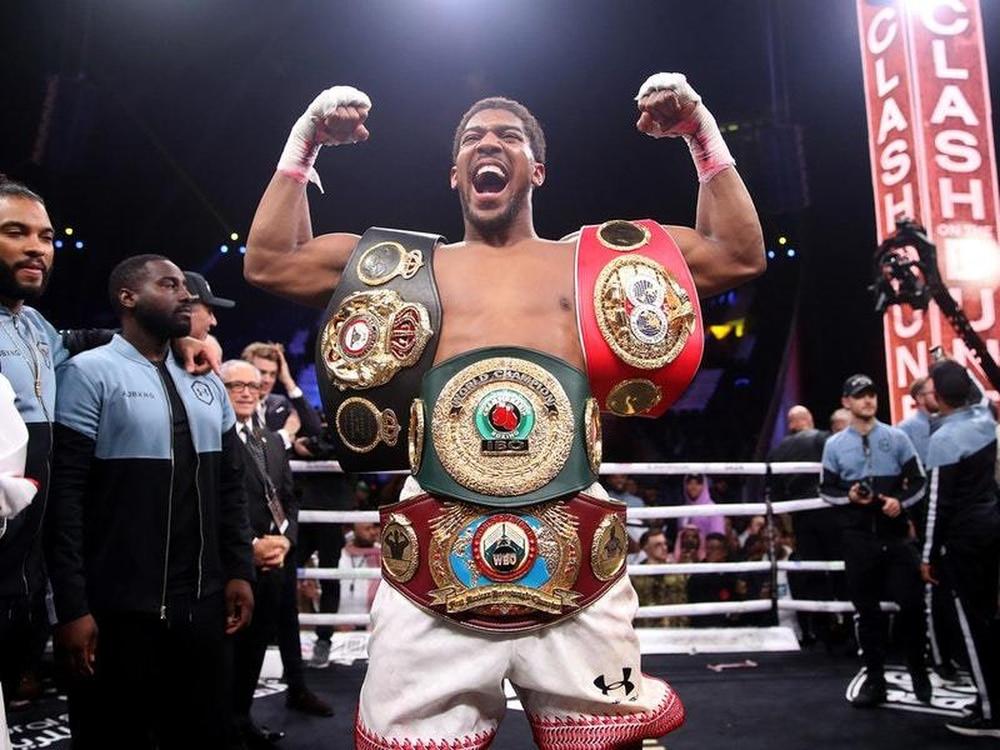 Joshua defending heavyweight belts vs Pulev in June