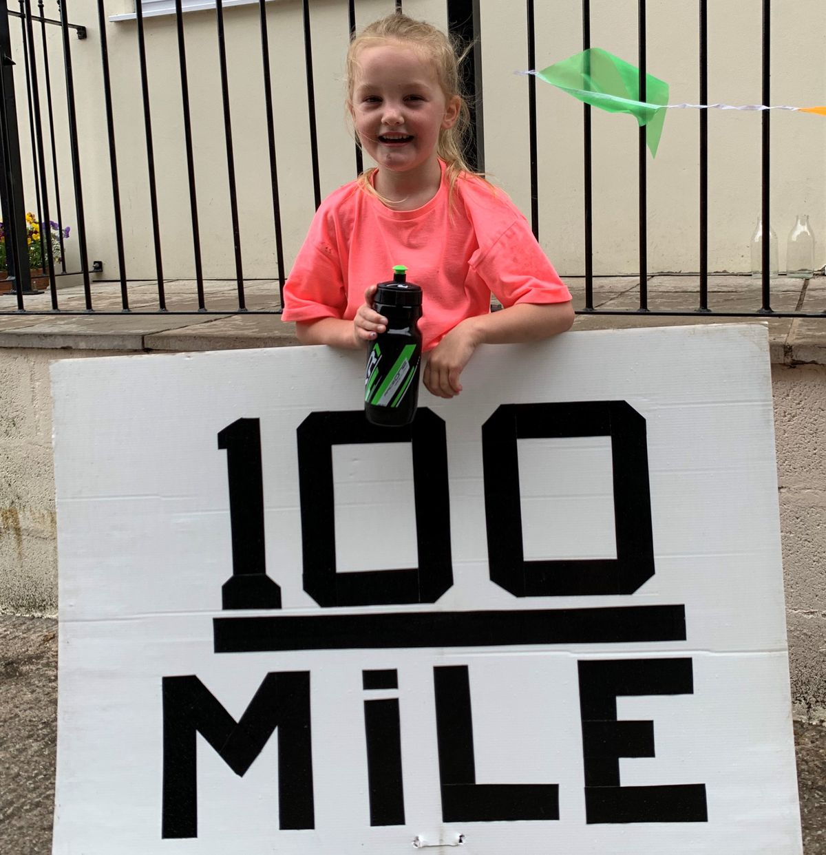 Gracie Knowles celebrates her first 100 miles