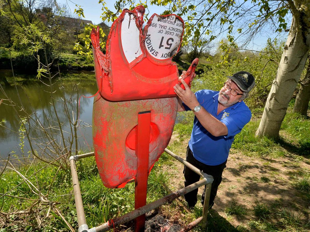 Chris Wood of the Shrewsbury Anglers Club assesses the damage