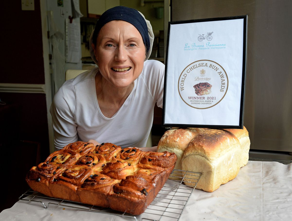 Alison Jones claimed the overall supreme champion of the World Chelsea Bun Awards after impressing the judges