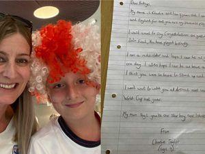 Nine-year-old praises Bukayo Saka for being 'so brave' in handwritten letter