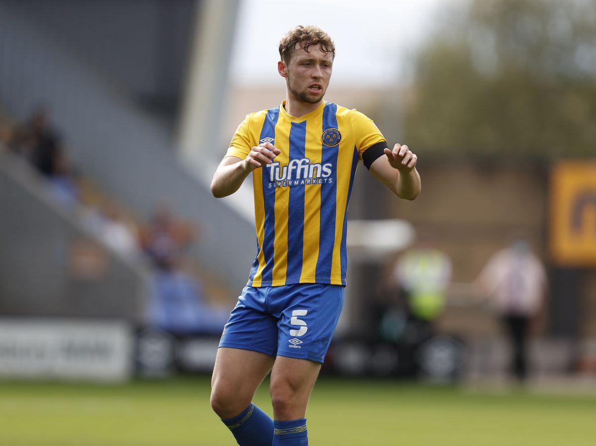Matthew Pennington of Shrewsbury Town. (AMA)