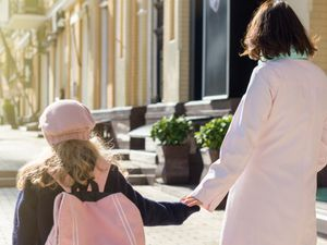 On a stroll – get healthy by  walking the kids to school