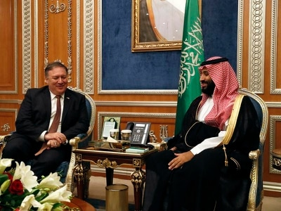 Mike Pompeo meets Saudi king and crown prince for talks on missing journalist