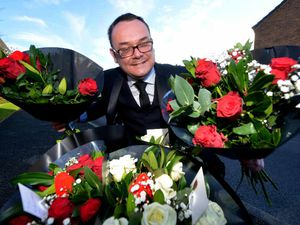Video and pictures: The flower man - there's nothing quite like rewarding ladies who deserve a treat with flowers