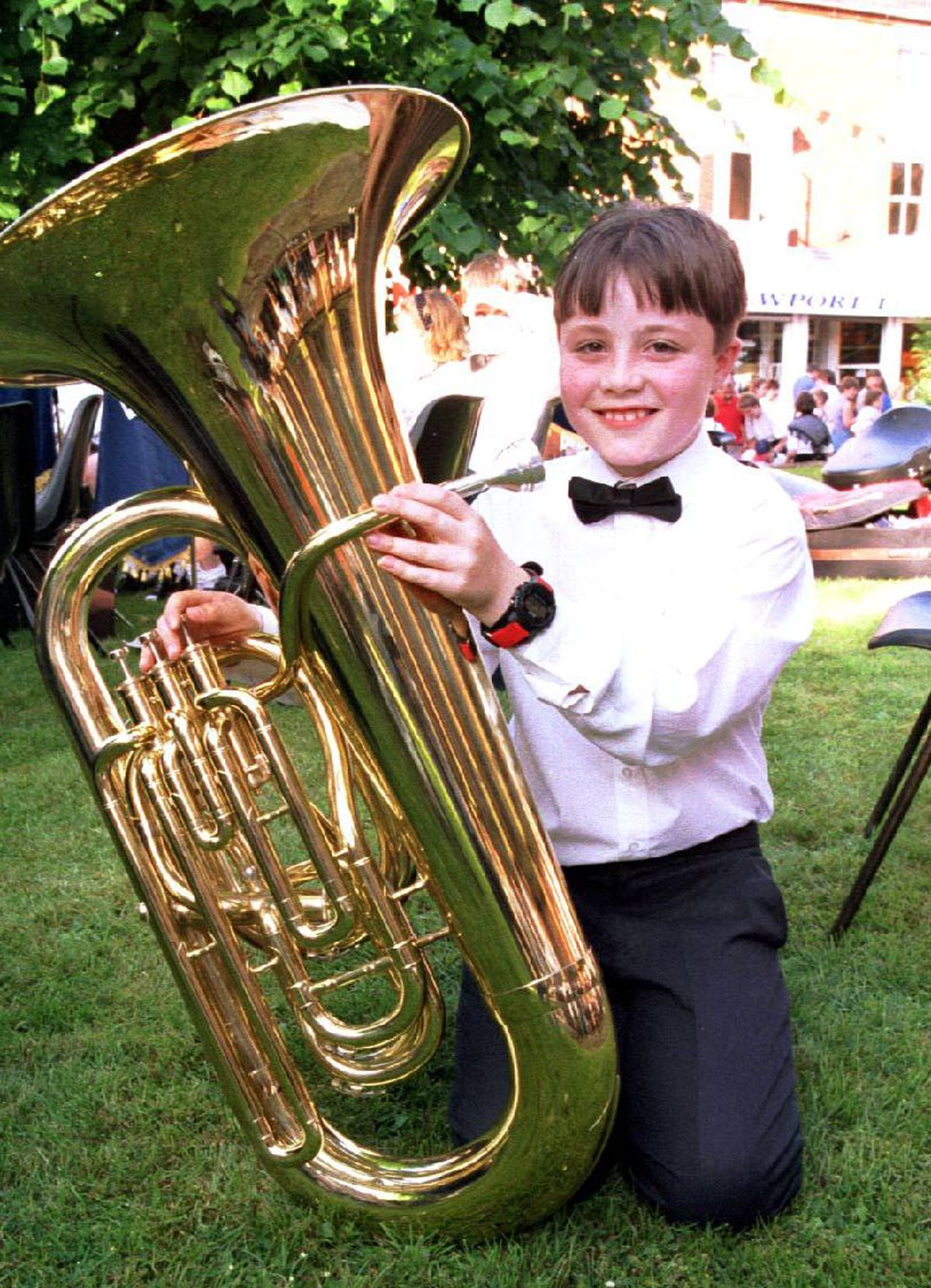 Ben as a young tuba player