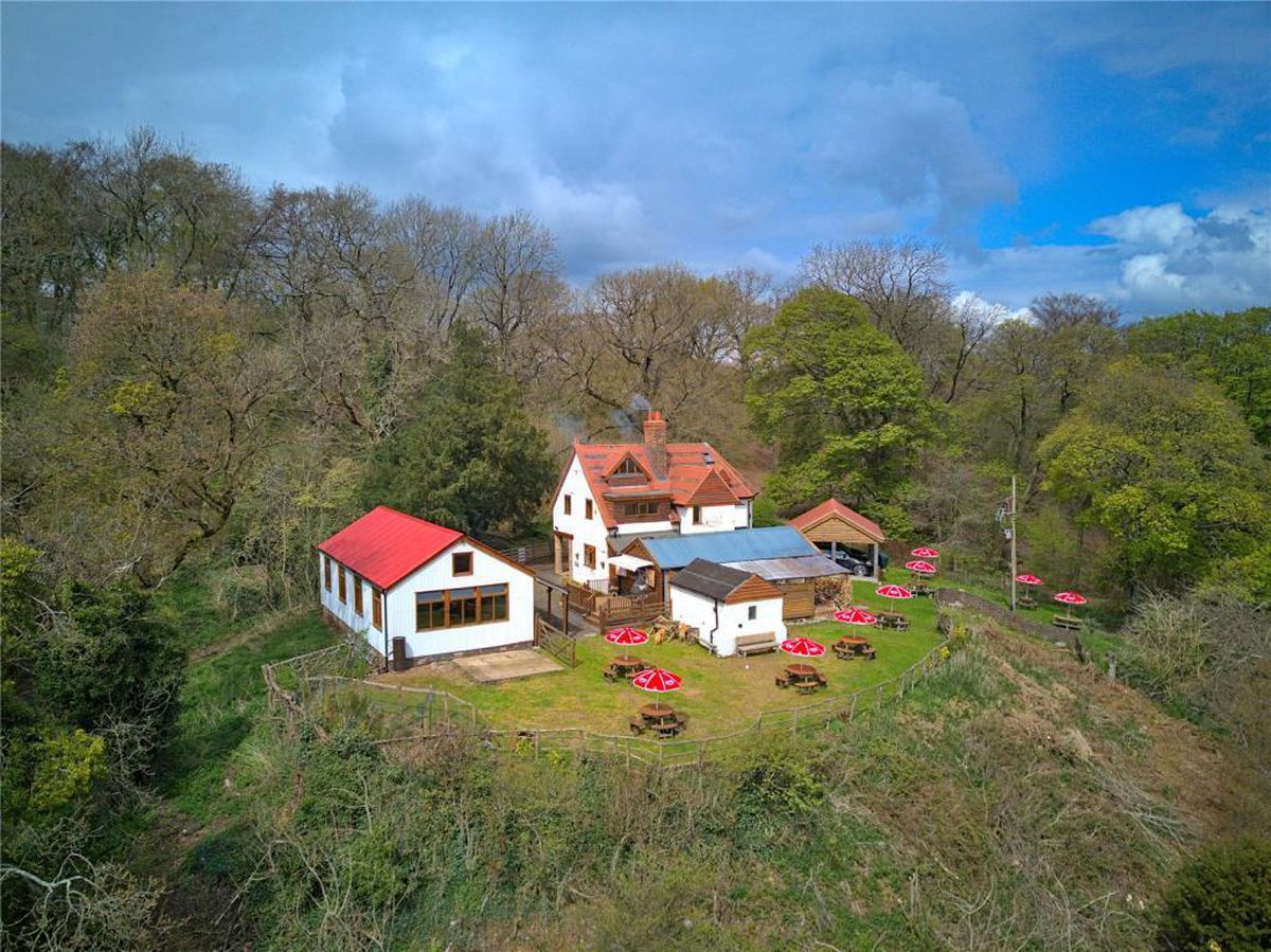 The house and land is up for sale for around £650,000