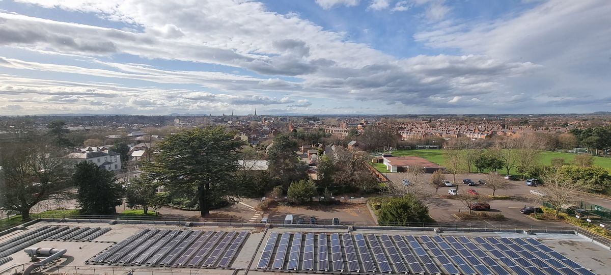 Looking towards Shrewsbury town centre. Picture: SOS – Save Our Shirehall.