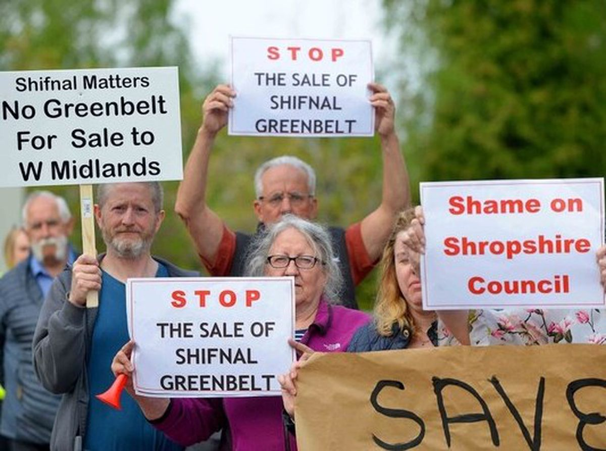 Protests have been held in Shifnal