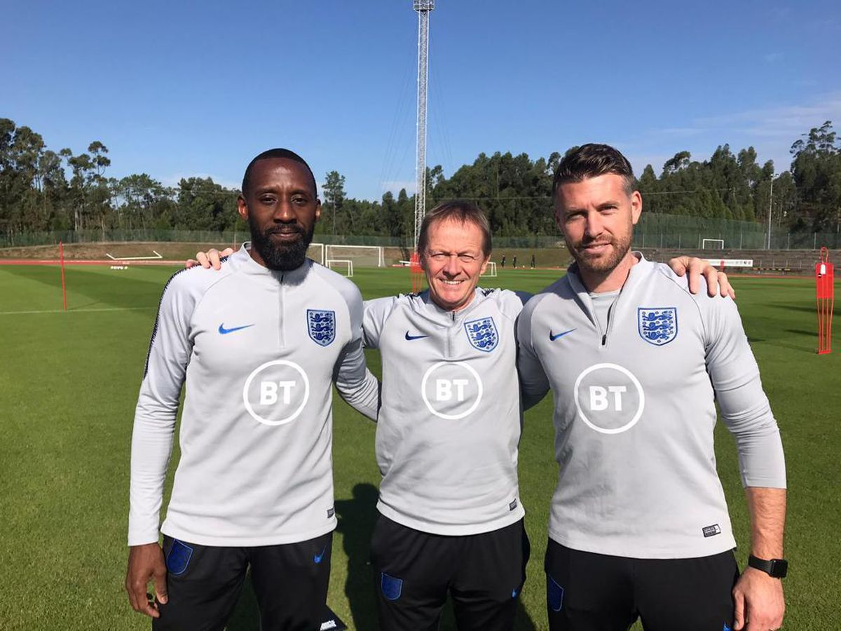 Rob Edwards with Jason Euell and Keith Downing