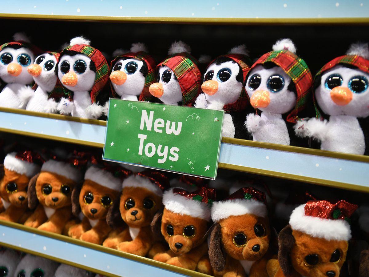 Toys on display at Hamleys