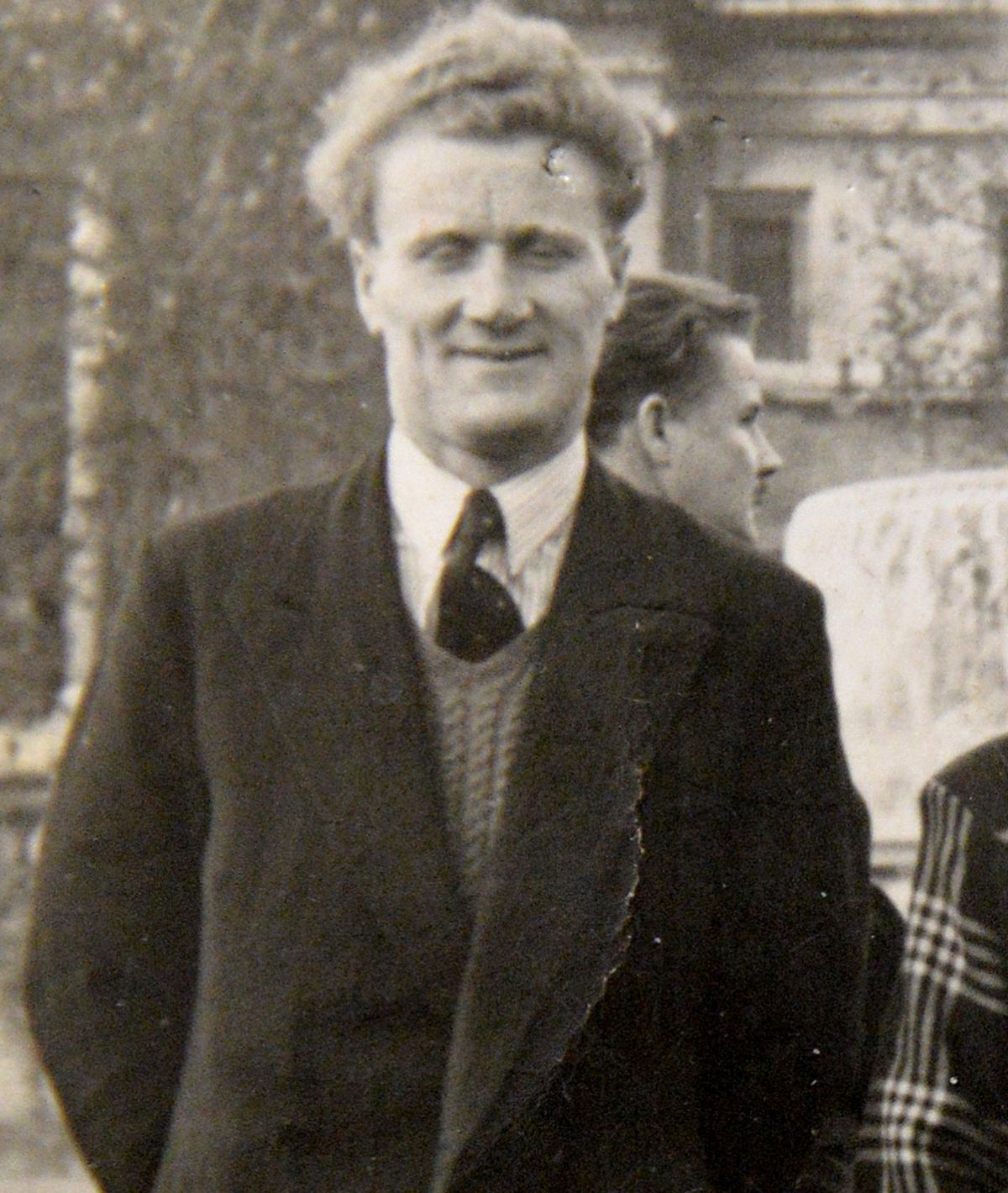 Eddie Budd now 100, pictured in the 1940s