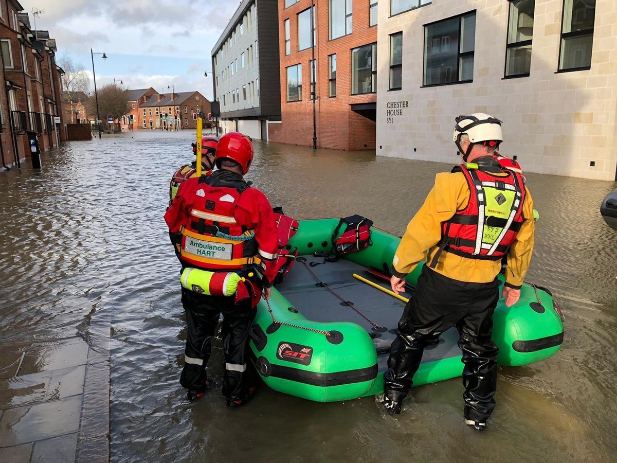 Chester Street, Shrewsbury. Photo: West Midlands Ambulance Service.