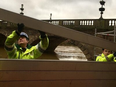Flood barriers back up again in Shrewsbury - with pictures and video