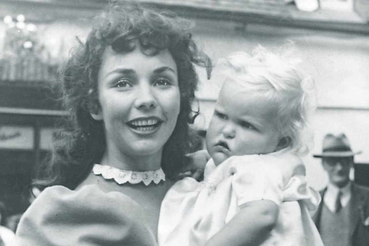 Jennifer Jones in Much Wenlock during the making of Gone To Earth