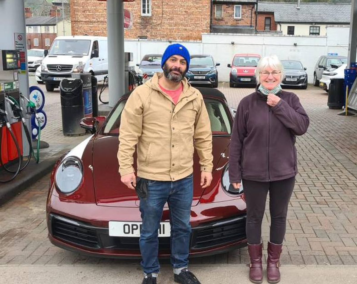 Top Gear's Chris Harris with Gill Williams