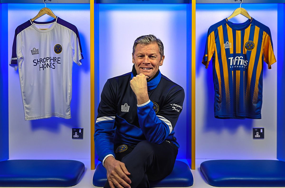 Steve Cotterill is unveiled as the new manager of Shrewsbury Town yesterday – he feels he has waited for the right job to come along (AMA)