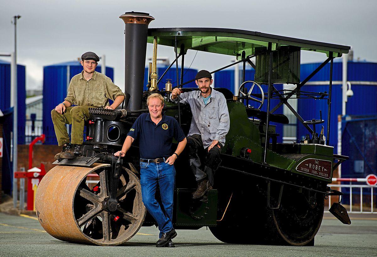 Organisers of Shrewsbury Steam Rally, from left Evan Allison, event chairman Edward Goddard and David Riley