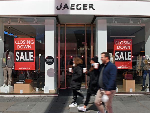 The closed Jaeger store on the King's Road, Chelsea.