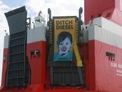 Three arrested after Greenpeace volunteers storm Volkswagen ship