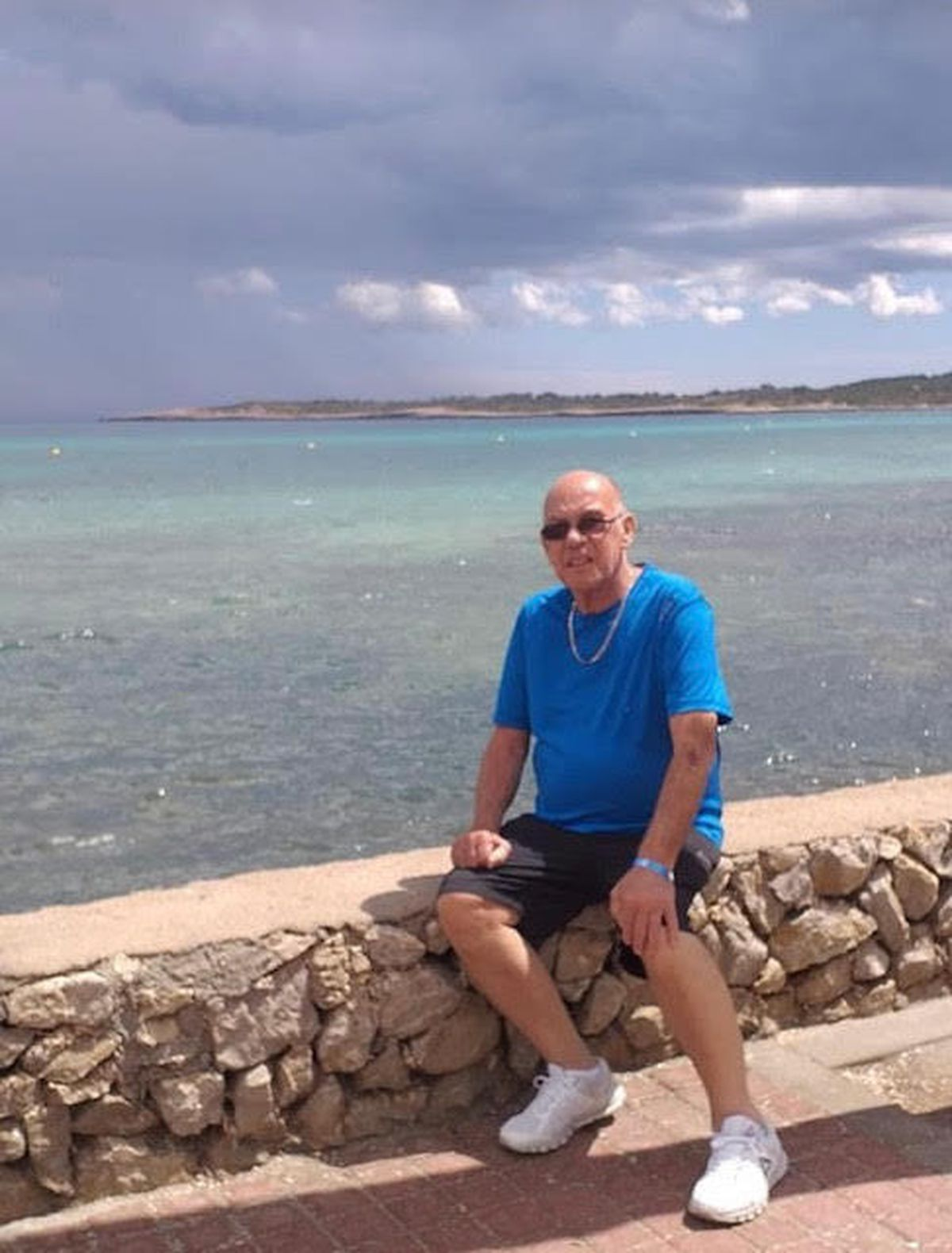 Kenny Barber on holiday in Spain in 2008