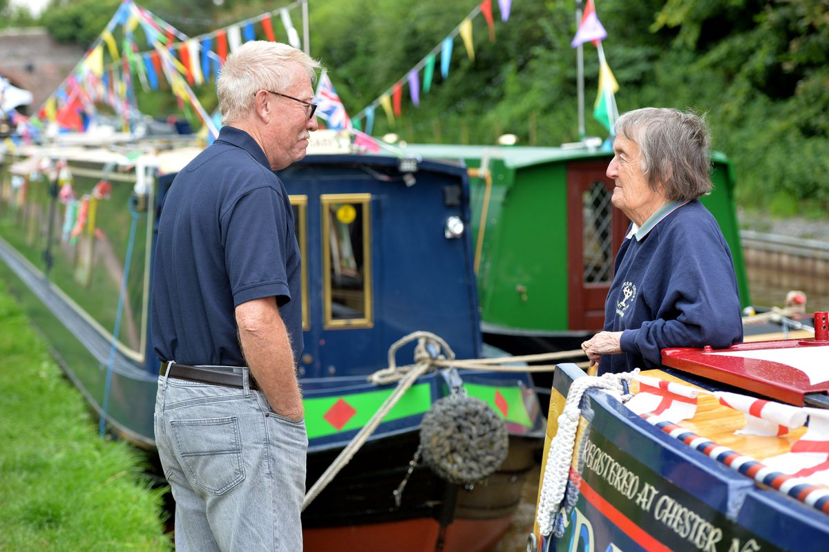 Bill Bates and Betty Holgate at the Whitchurch Canal Festival