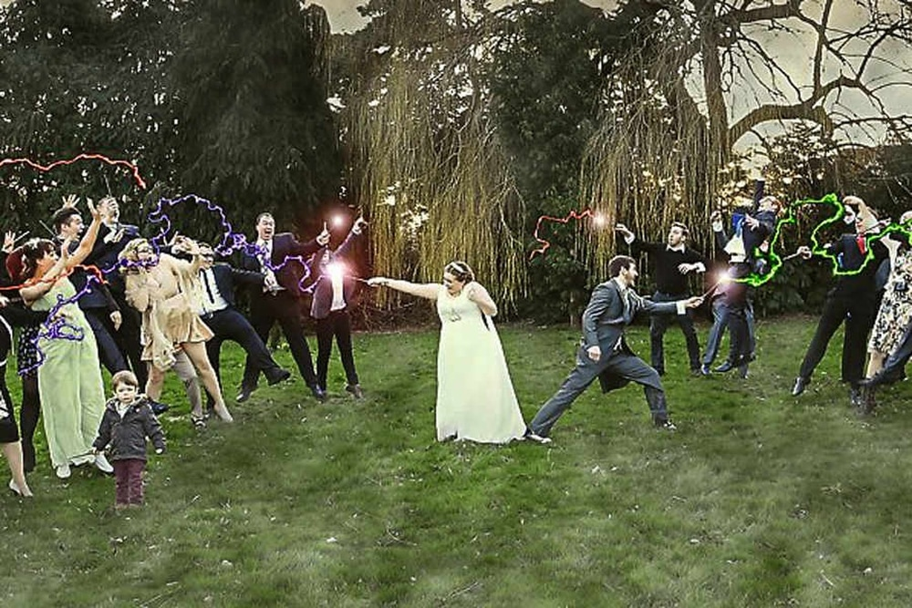 Harry Potter and the wizard wedding . . . in Shropshire ...