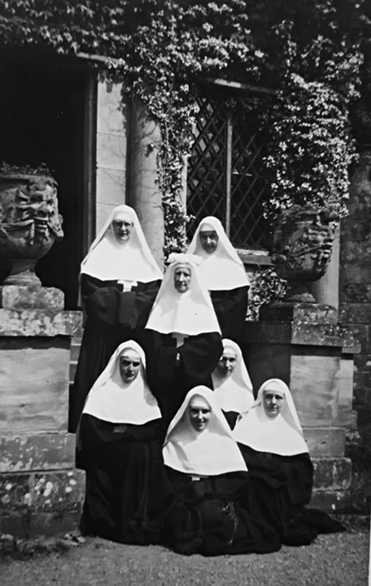 The Nuns of the Assumption at Aldenham Park in about 1941.