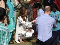 'I won't take it off': William and Kate given friendship bracelets in Pakistan